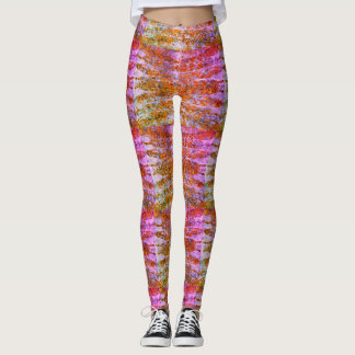 Sunset Feathers Patterned Leggings