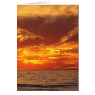 Sunset fire greeting cards