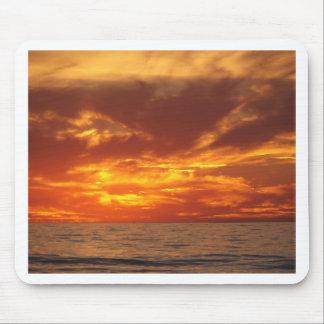 Sunset fire mousemat