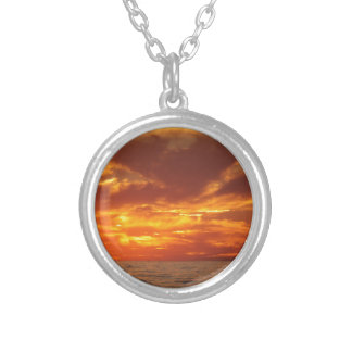 Sunset fire necklaces
