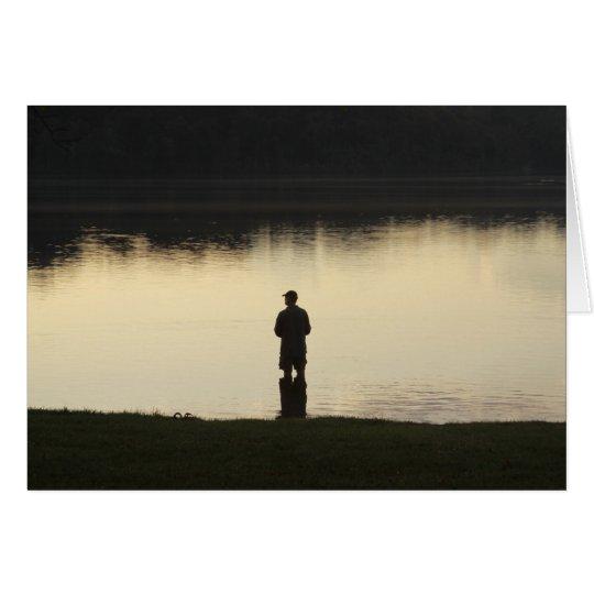 sunset fisherman card