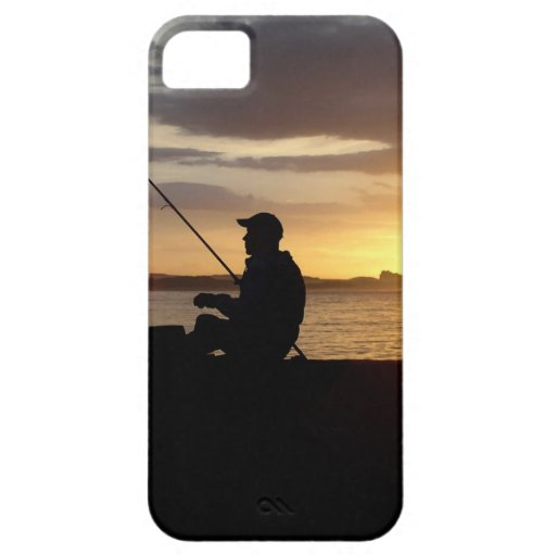 Sunset Fishing Point Of View Cover For iPhone 5/5S