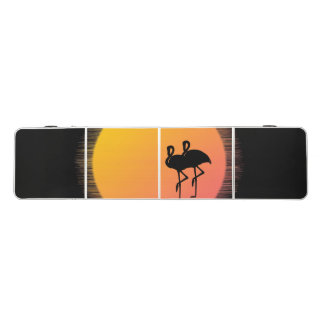 Sunset Flamingo Tranquility Beer Pong Table
