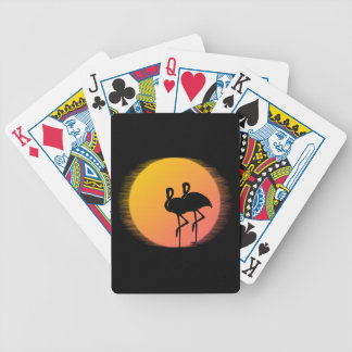 Sunset Flamingo Tranquility Bicycle Playing Cards