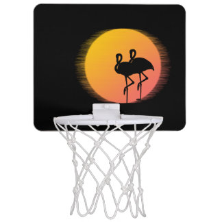 Sunset Flamingo Tranquility Mini Basketball Hoop