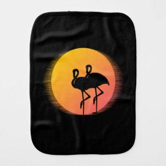 Sunset Flamingos Burp Cloth