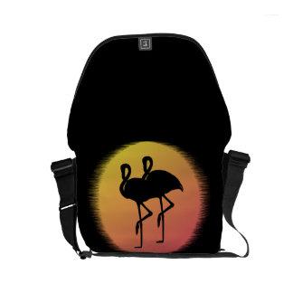 Sunset Flamingos Courier Bag