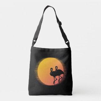 Sunset Flamingos Crossbody Bag