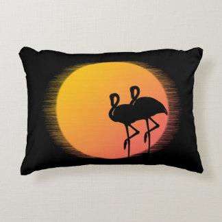 Sunset Flamingos Decorative Cushion