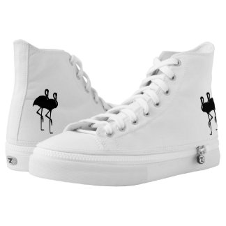 Sunset Flamingos Personalized High Tops