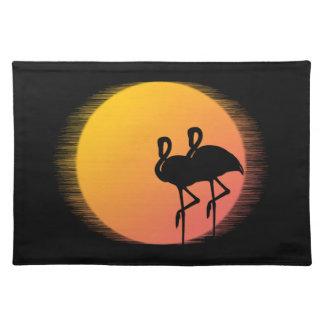 Sunset Flamingos Placemat