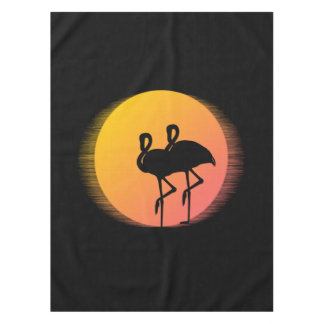 Sunset Flamingos Tablecloth
