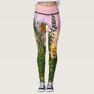 Sunset Flowers Women's Leggings