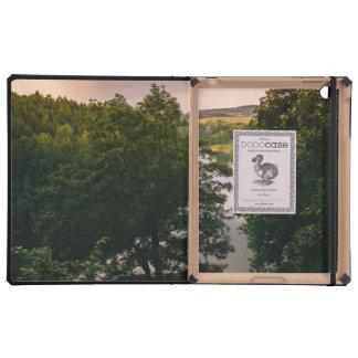 Sunset Forest Lake Landscape Photograph iPad Case