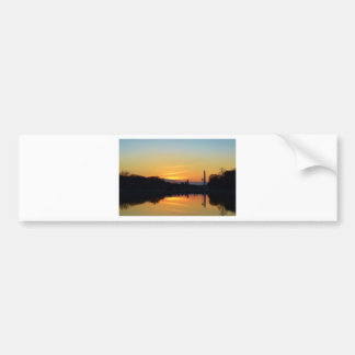 Sunset from Capitol Hill. Bumper Sticker