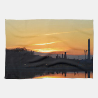 Sunset from Capitol Hill. Tea Towel