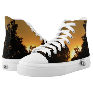 Sunset from Fire High Top Shoes Printed Shoes