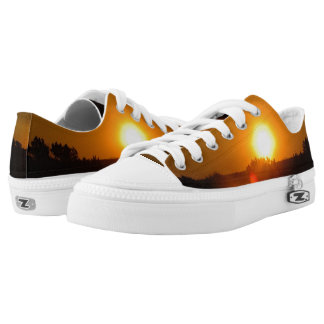 Sunset from Fire Low Top Shoes Printed Shoes
