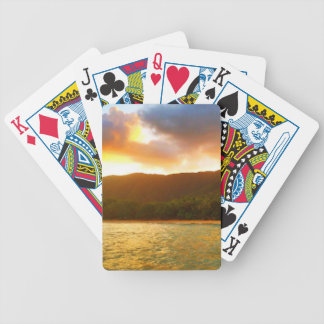 Sunset from Palm Cove Jetty Bicycle Playing Cards