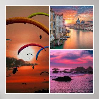 Sunset Fun Poster