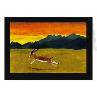 Sunset Gazelle Art Card