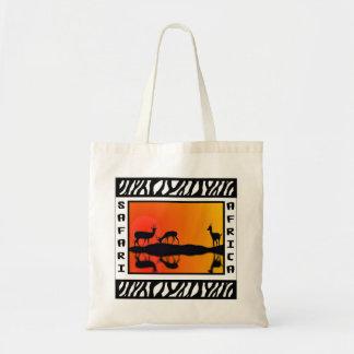 Sunset Gazelles Safari tote bag