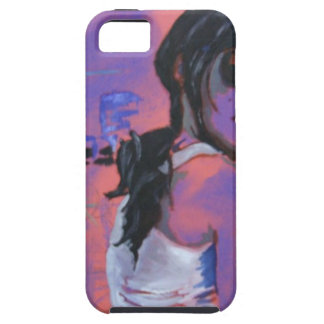 sunset girl iPhone 5 cases