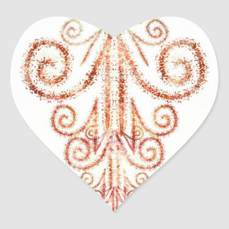 Sunset Givings Heart Stickers