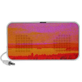 Sunset glow mp3 speakers