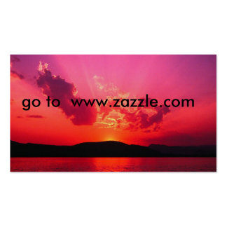 Sunset go to www zazzle com business card template