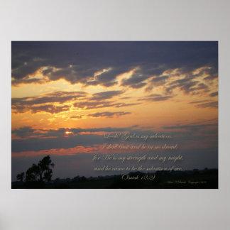 Sunset God is my Salvation Print