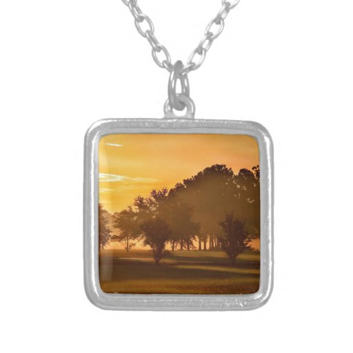 Sunset Golfers Dream Personalized Necklace