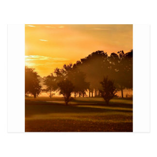 Sunset Golfers Dream Post Card