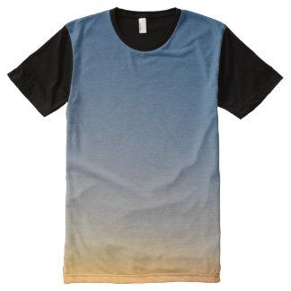 sunset gradient background blue orange evening sky All-Over print T-Shirt