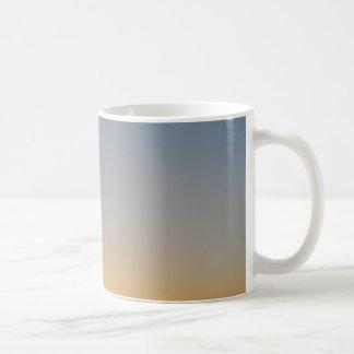 sunset gradient background blue orange evening sky coffee mug
