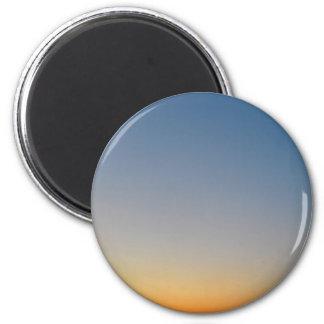 sunset gradient background blue orange evening sky magnet