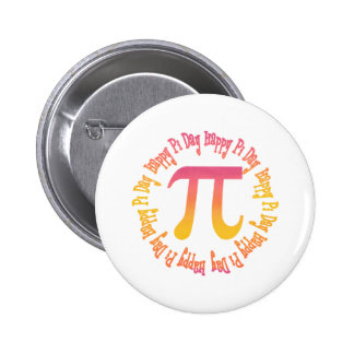 Sunset Gradient Pi Day Gifts and Tees 6 Cm Round Badge