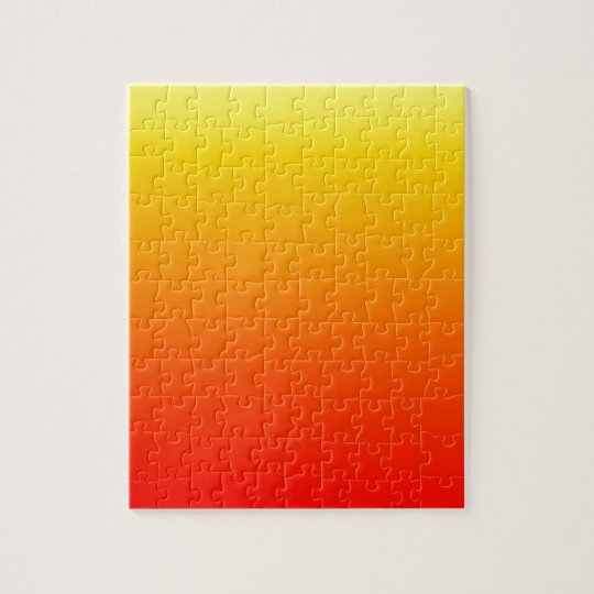 Sunset Gradient Yellow to Deep Red Colour Ombre Jigsaw Puzzle
