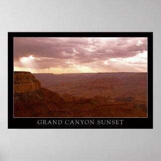 Sunset Grand Canyon Poster