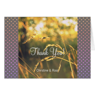 Sunset Grass, Wedding Thank You Card