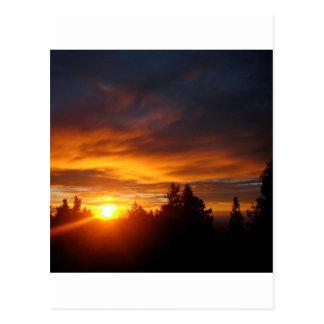 Sunset Gravity Archer Postcard