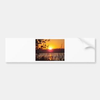Sunset Greeting Card Bumper Sticker