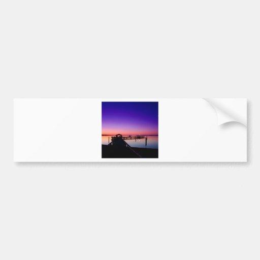 Sunset Harbor Hyannisport Massachusetts Bumper Sticker
