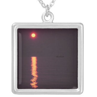 Sunset Hawaii Square Pendant Necklace