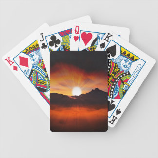 Sunset Holiday Style Bicycle Playing Cards