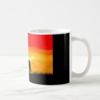 sunset horse coffee mug