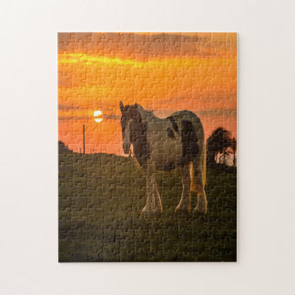 Sunset Horse Jigsaw Puzzle
