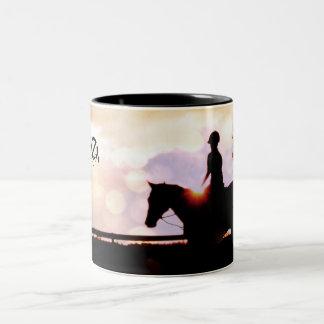 Sunset Horse Ride Coffee Mug