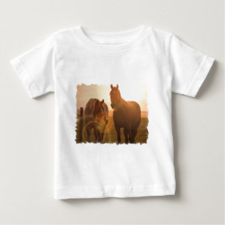 Sunset Horses  Baby T-Shirt