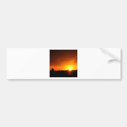 Sunset Hot Vision Bumper Sticker